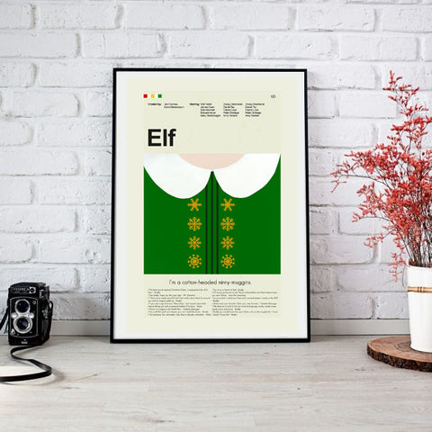 Elf Inspired Mid-Century Modern Print 12x18 | Print only