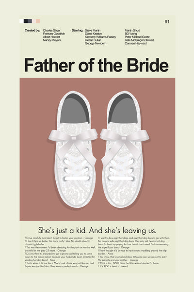 "Father of the Bride - Annie's Sneakers  | 12""x18"" Print only"