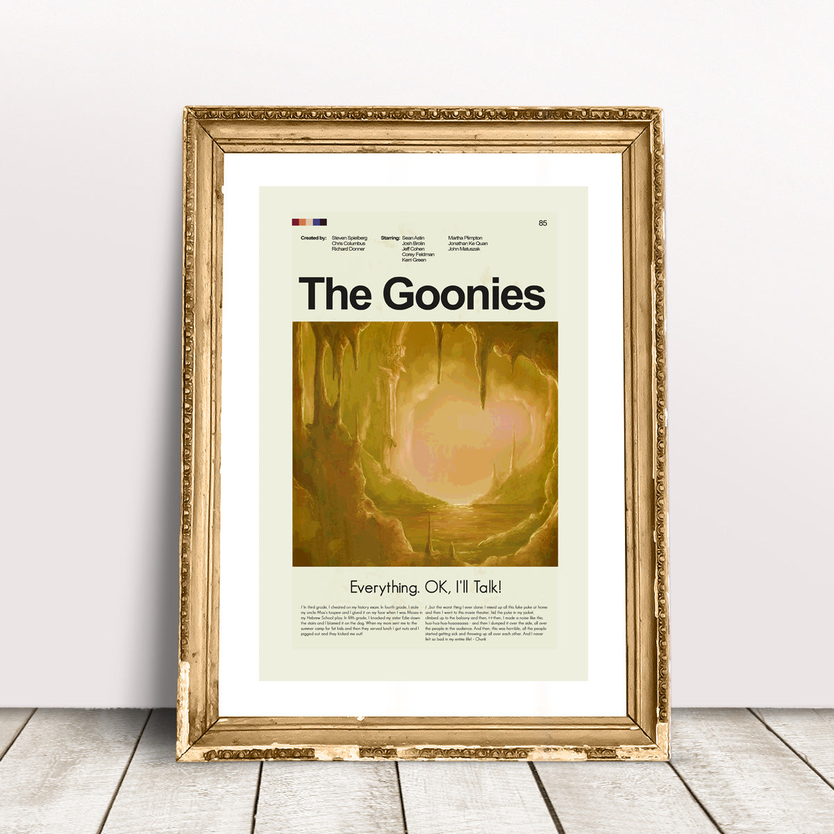 The Goonies Inspired Mid-Century Modern Print 12x18 | Print only