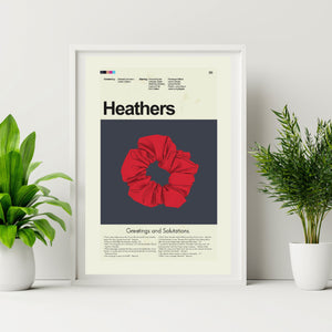 Heathers Inspired Mid-Century Modern Print 12x18 | Print only