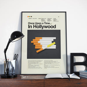 Once Upon a Time... In Hollywood Inspired Mid-Century Modern Print 12x18 | Print only