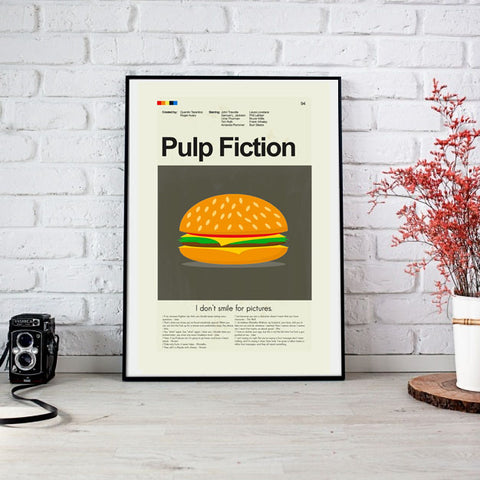 Pulp Fiction Mid-Century Modern Print 12x18 | Print only