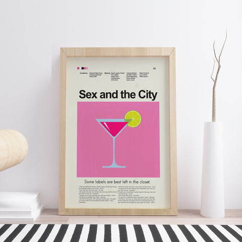 Sex and the City (movie) Inspired Mid-Century Modern Print 12x18 | Print only