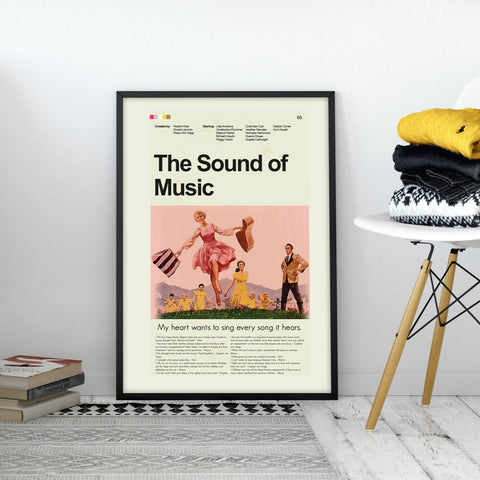 The Sound of Music Inspired Mid-Century Modern Print 12x18 | Print only