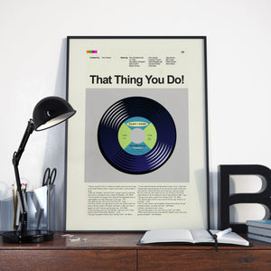 That Thing You Do! Inspired Mid-Century Modern Print 12x18 | Print only