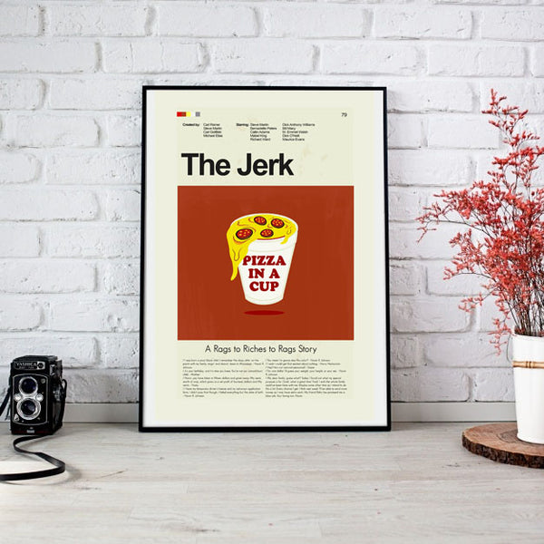 The Jerk Inspired Mid-Century Modern Print 12x18 | Print only