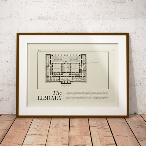 "Seinfeld ""The Library"" Textbook Inspired Mid-Century Modern Print 12x18 