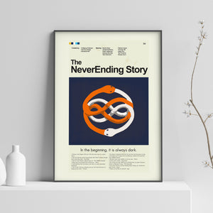 The NeverEnding Story Inspired Mid-Century Modern Print 12x18 | Print only