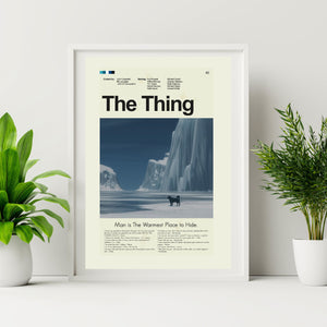 The Thing Inspired Mid-Century Modern Print 12x18 | Print only