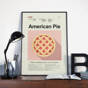 American Pie Inspired Mid-Century Modern Print 12x18 | Print only