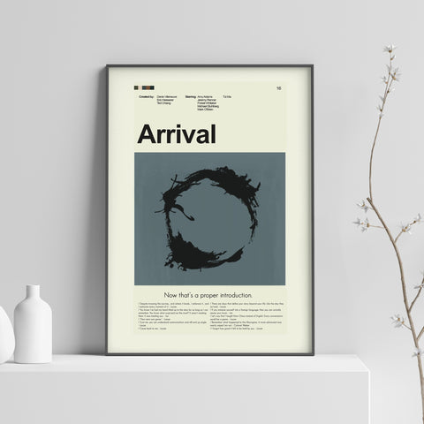 Arrival Inspired Mid-Century Modern Print 12x18 | Print only