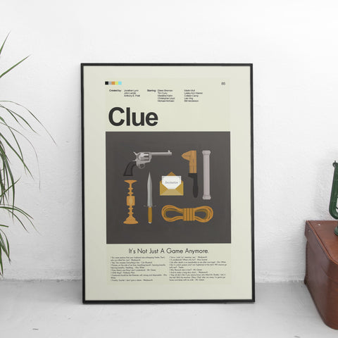 "Clue - The Weapons | 12""x18"" Print Only"