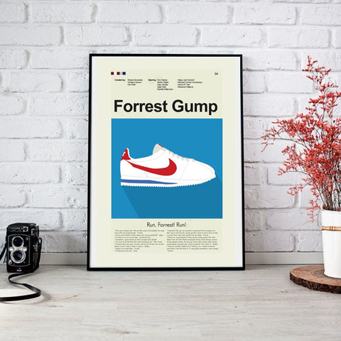 Forrest Gump Inspired Mid-Century Modern Print 12x18 | Print only