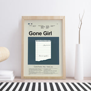 Gone Girl Inspired Mid-Century Modern Print 12x18 | Print only