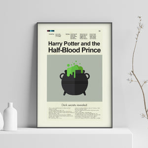 Harry Potter and the Half-Blood Prince Inspired Mid-Century Modern Print 12x18 | Print only