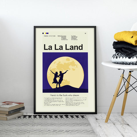 LaLa Land Inspired Mid-Century Modern Print 12x18 | Print only