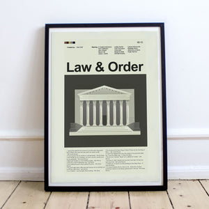 Law and Order Inspired Mid-Century Modern Print 12x18 | Print only