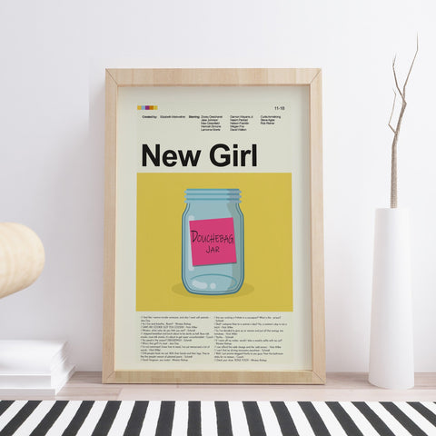 "New Girl - Douchebag Jar | 12""x18"" Print only"