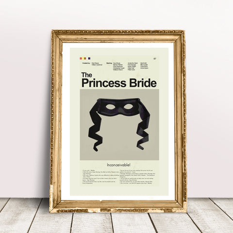 "The Princess Bride - Black Mask | 12""x18"" Print only"