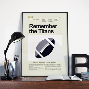Remember the Titans Inspired Mid-Century Modern Print 12x18 | Print only