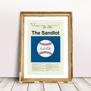 The Sandlot Inspired Mid-Century Modern Print 12x18 | Print only