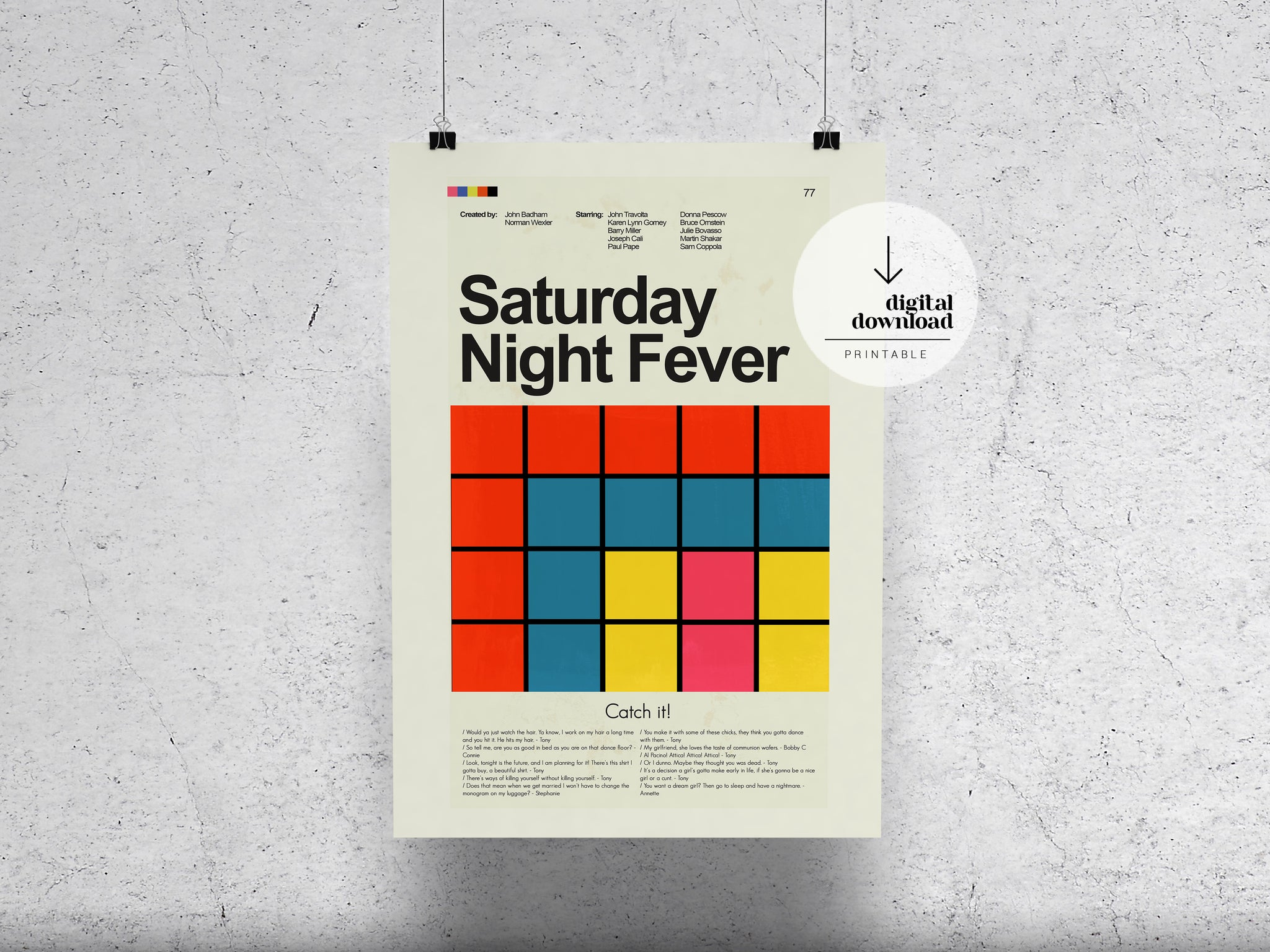 Saturday Night Fever | DIGITAL DOWNLOAD