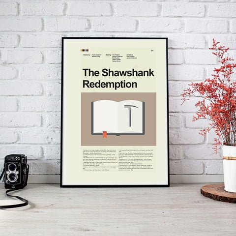 The Shawshank Redemption Inspired Mid-Century Modern Print 12x18 | Print only