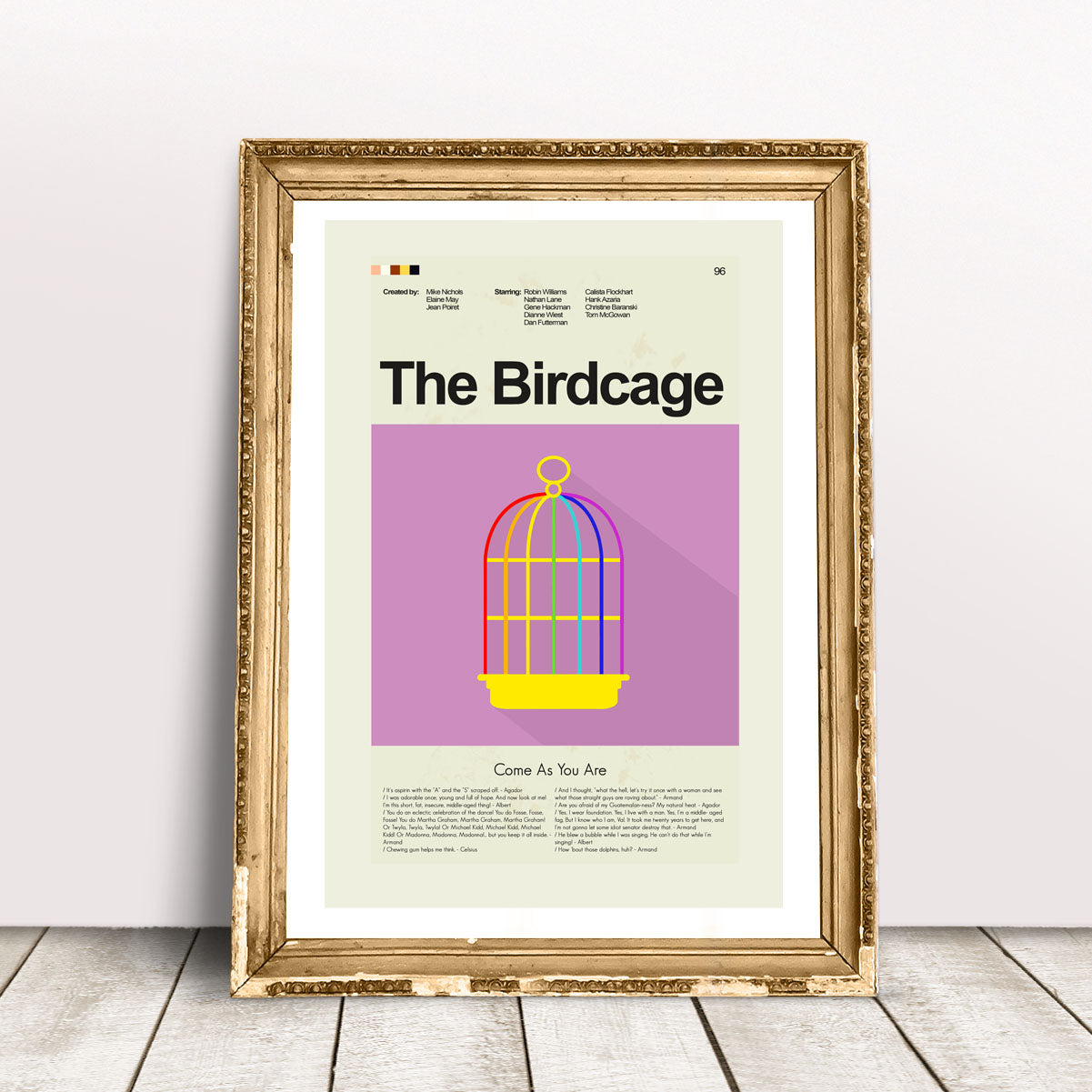 The Birdcage Inspired Mid-Century Modern Print 12x18 | Print only