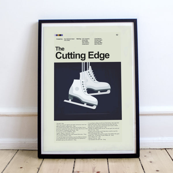 "The Cutting Edge - Skates  | 12""x18"" Print only"