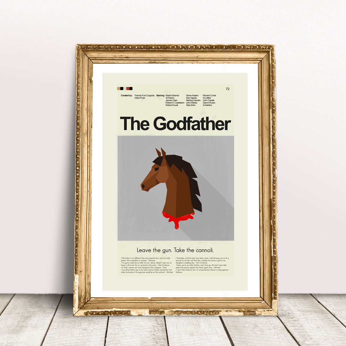 The Godfather Inspired Mid-Century Modern Print 12x18 | Print only