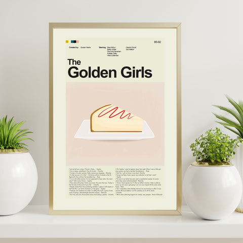 The Golden Girls Inspired Mid-Century Modern Print 12x18 | Print only