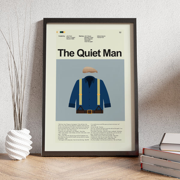 "The Quiet Man - Shirt and Flat Cap  | 12""x18"" Print only"