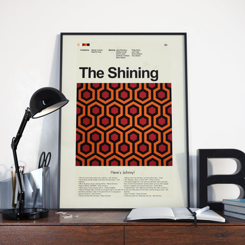 The Shining Inspired Mid-Century Modern Print 12x18 | Print only