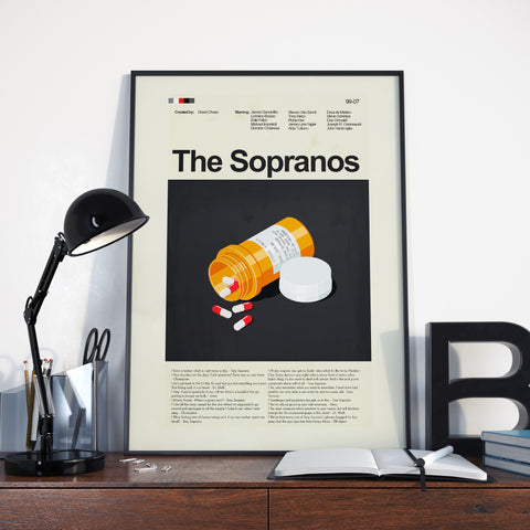The Sopranos Inspired Mid-Century Modern Print 12x18 | Print only