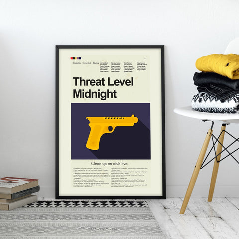 Threat Level Midnight Inspired Mid-Century Modern Print 12x18 | Print only