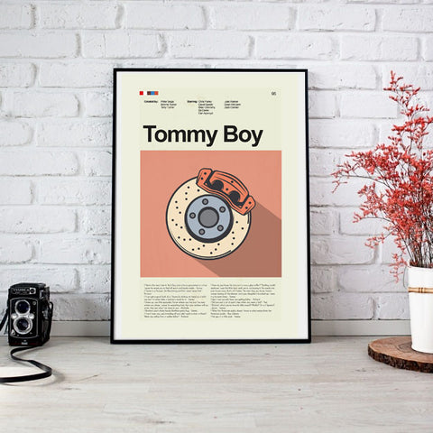 Tommy Boy Mid-Century Modern Print 12x18 | Print only
