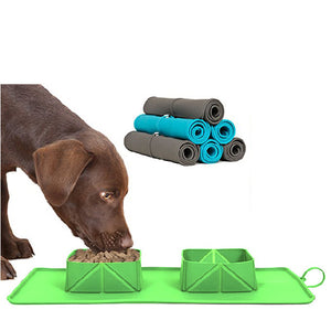Travel mat for pets meals
