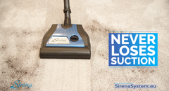 Sirena vacuum cleaner never loses suction