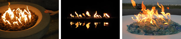 fire features using gfrc