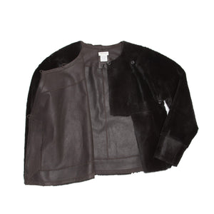 Black Kangaroo Fur Jacket