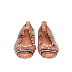 Find authentic preowned Azzedine Alaia Multicolor Python Ballerina Shoes size 40 (Italian) at BunnyJack, where a portion of every sale goes to charity.