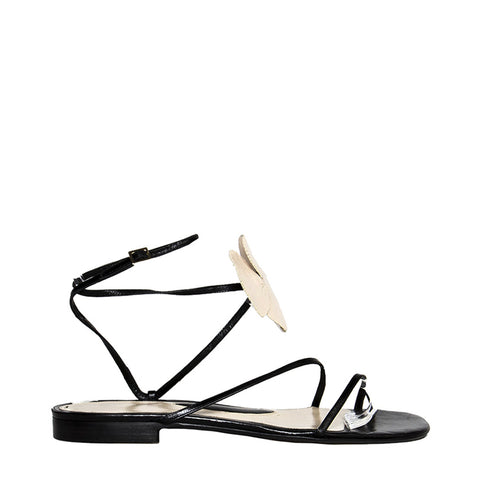 Alessandro Dell'Acqua Black & Ivory Wrap Sandals