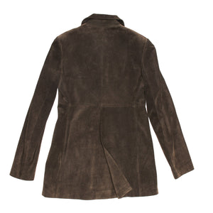 Find an authentic preowned Azzedine Alaia Grey Brown Suede Jacket size 42 (French) at BunnyJack, where a portion of every sale goes to charity.