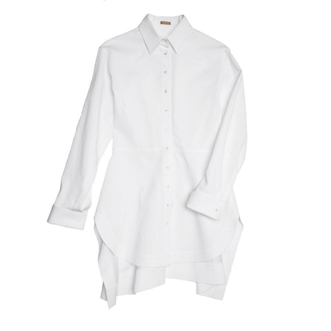 Alaia White Twill Cotton Shirt, size 42 (French)