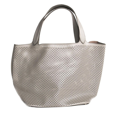 Find an authentic preowned Azzedine Alaia Grey Large Tote Bag at BunnyJack, where a portion of every sale goes to charity.