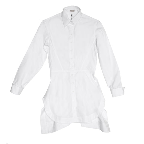 Alaia White Long Cotton Shirt, size 40 (French)