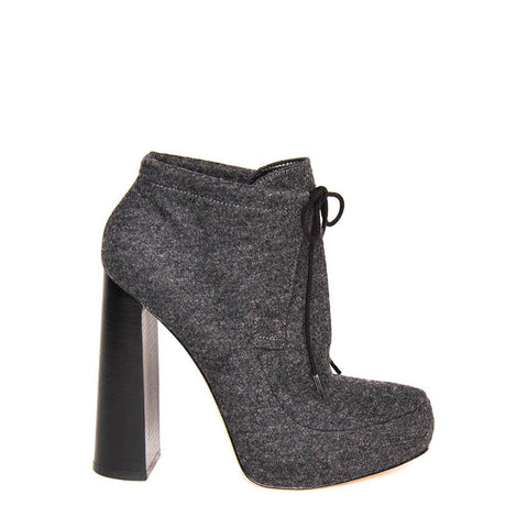 Grey Flannel Platform Ankle Boots