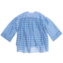 Balenciaga Sky Blue Striped Top, Size 36 (French)
