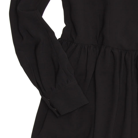 Balenciaga Black Mandarin Collared Dress, Size 44 (French)