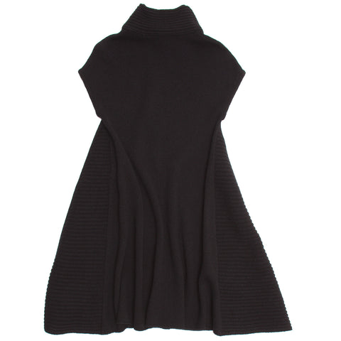 Balenciaga Black Wool Knit Dress, Size 42 (French)
